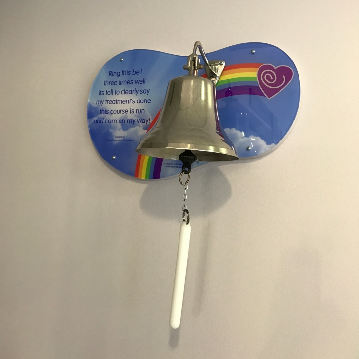 The bell patients ring at the end of their radiotherapy course