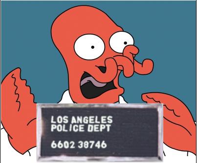 Dr Zoidberg lobster mugshot