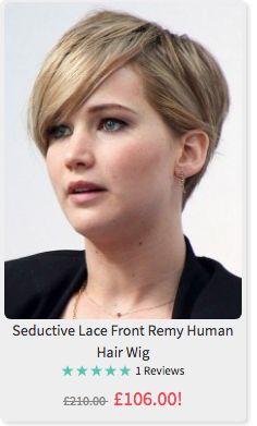 Jennifer thingy off the Hunger Games. Not a wig.