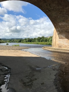 Under the bridge at Corbridge