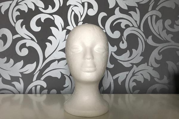 Polystyrene head wig stand